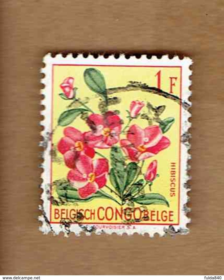 Congo Belge.(COB-OBP)  1952 - N°310    *FLEURS DU CONGO*    1F   Oblitéré - Congo Belge
