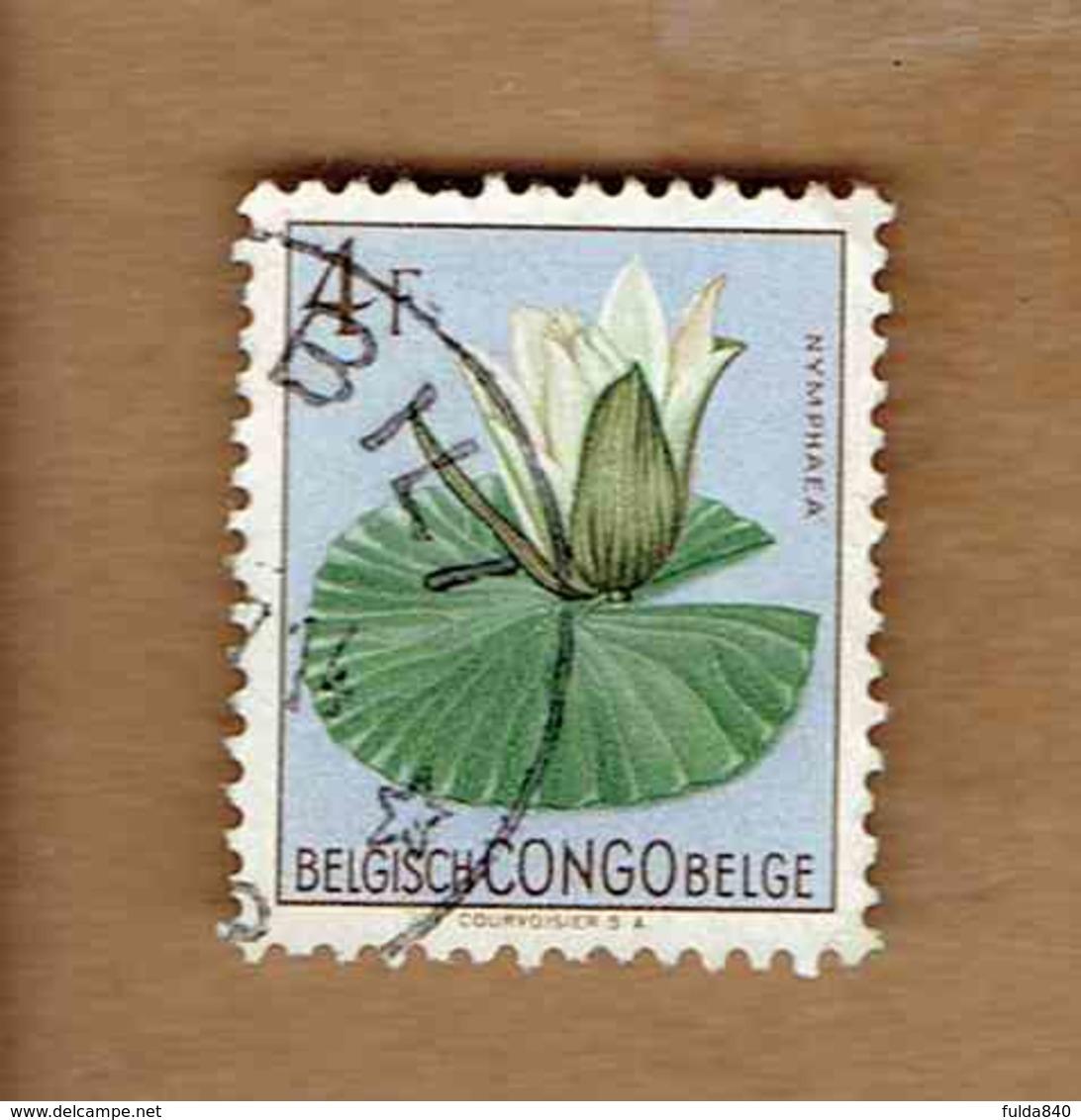 Congo Belge.(COB-OBP)  1952 - N°315    *FLEURS DU CONGO*    4F   Oblitéré - Congo Belge