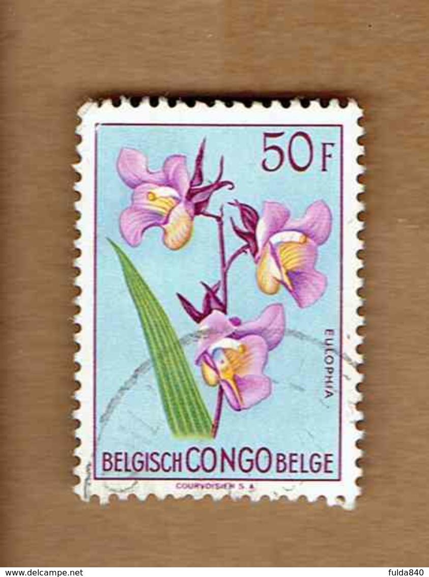 Congo Belge.(COB-OBP)  1952 - N°322    *FLEURS DU CONGO*    50F   Oblitéré - Congo Belge