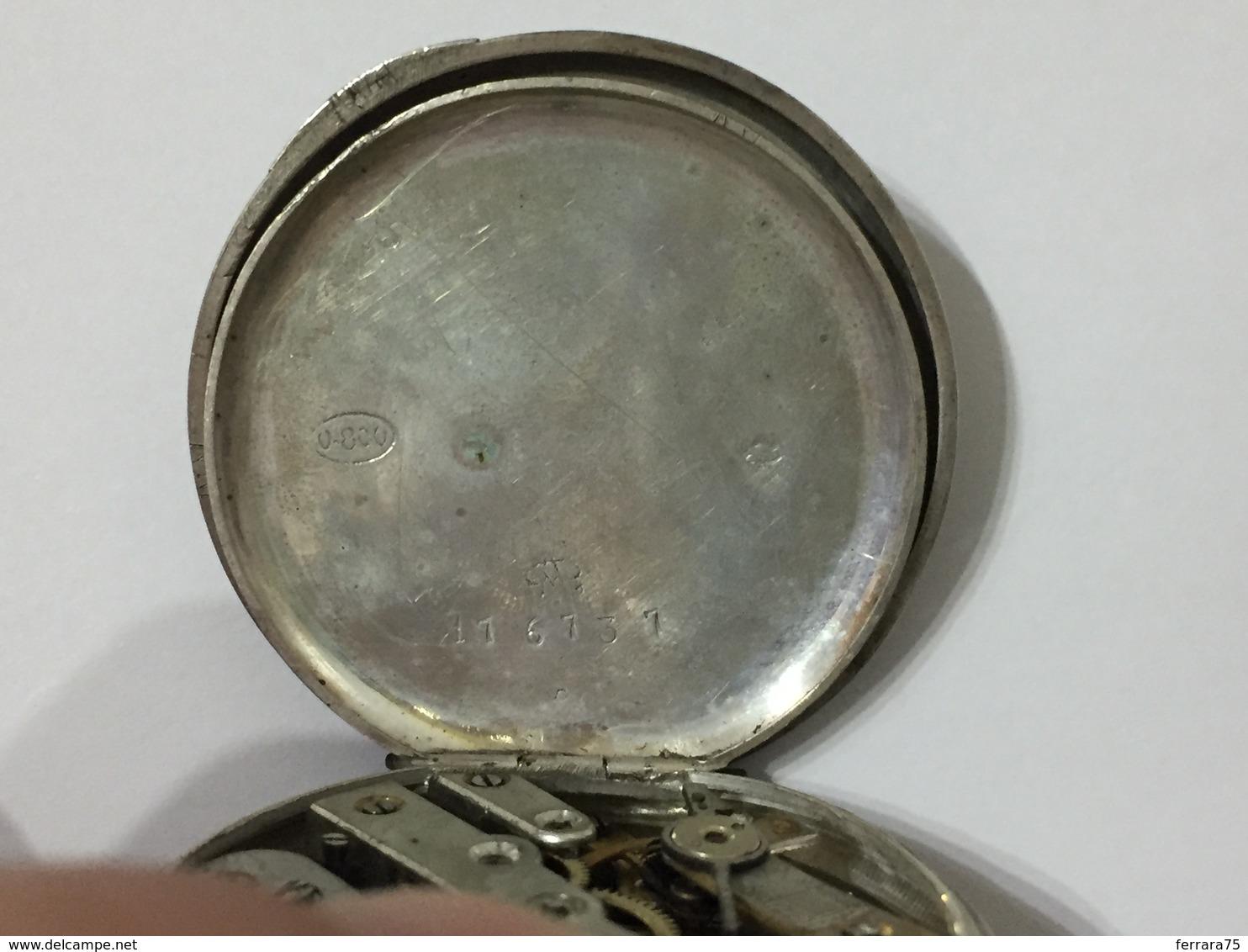 OROLOGIO DA TASCA POCKET WATCH CYLINDRE 10 RUBIS A CARICA MANUALE AG.800 - Orologi Antichi