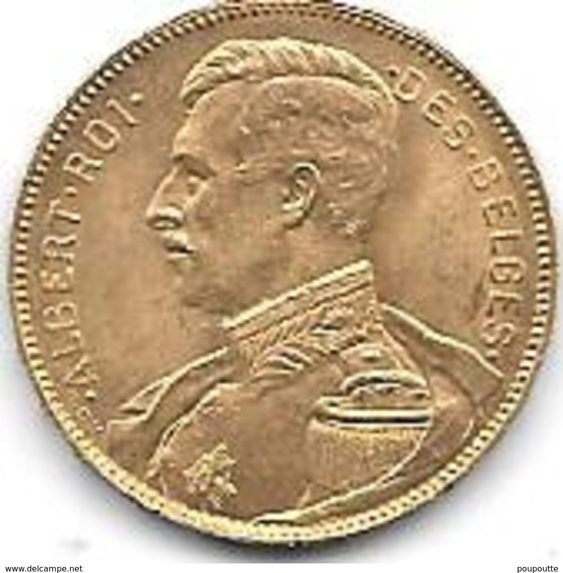20 Frs OR 1914 ALBERT I - 1909-1934: Albert I