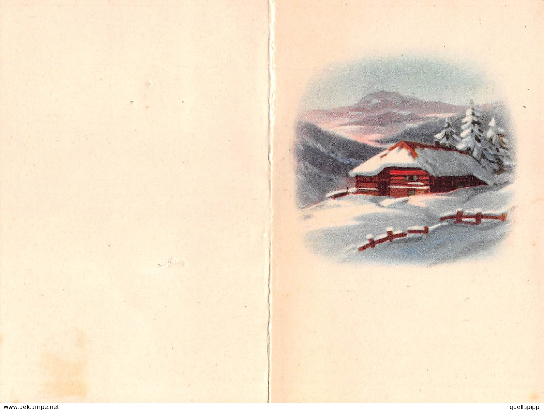 "08873 ""CALENDARIETTO - CASETTA IN MONTAGNA - NEVE - 1953"" - Calendriers"
