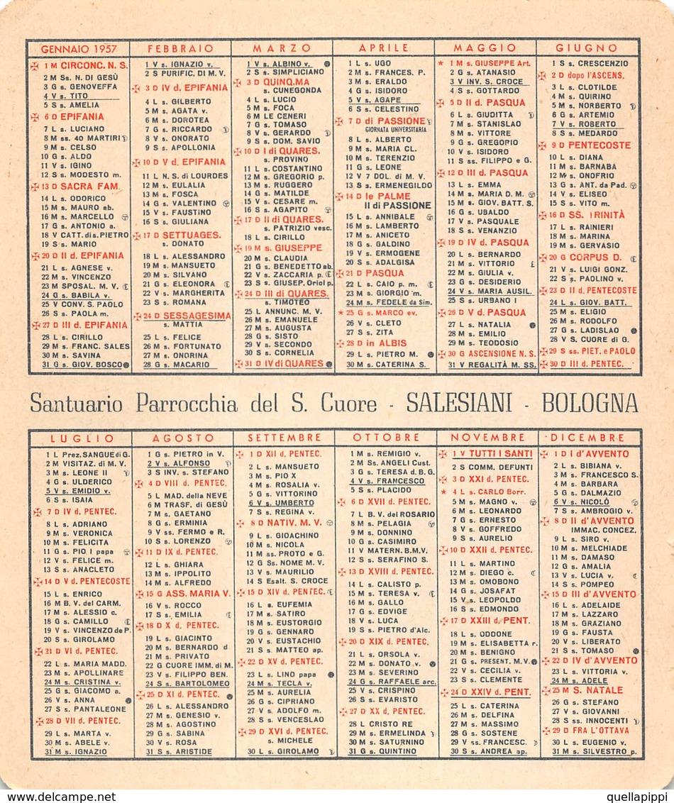 """08879 """"CALENDARIETTO-S. GIOVANNI BOSCO-SACRO CUORE DI GESU'- SANTUARIO SALESIANI BOLOGNA-1957"""" - Calendriers"""