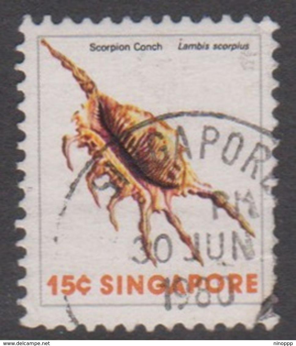 Singapore 296 1977 Sea Shells Definitive,15c, Used - Singapore (1959-...)