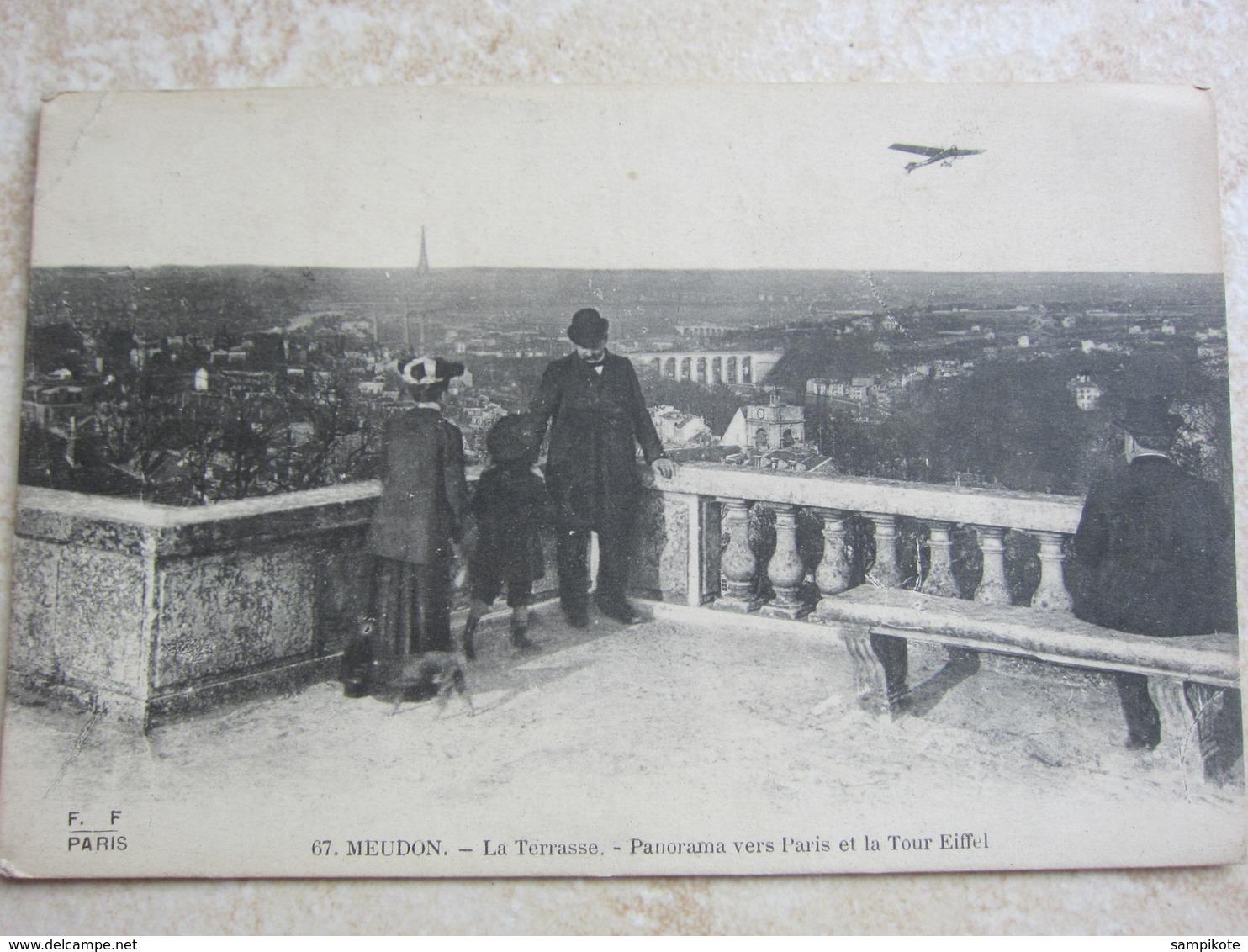MEUDON - La Terrasse, Panorama Vers Paris Et La Tour Eiffel - Meudon