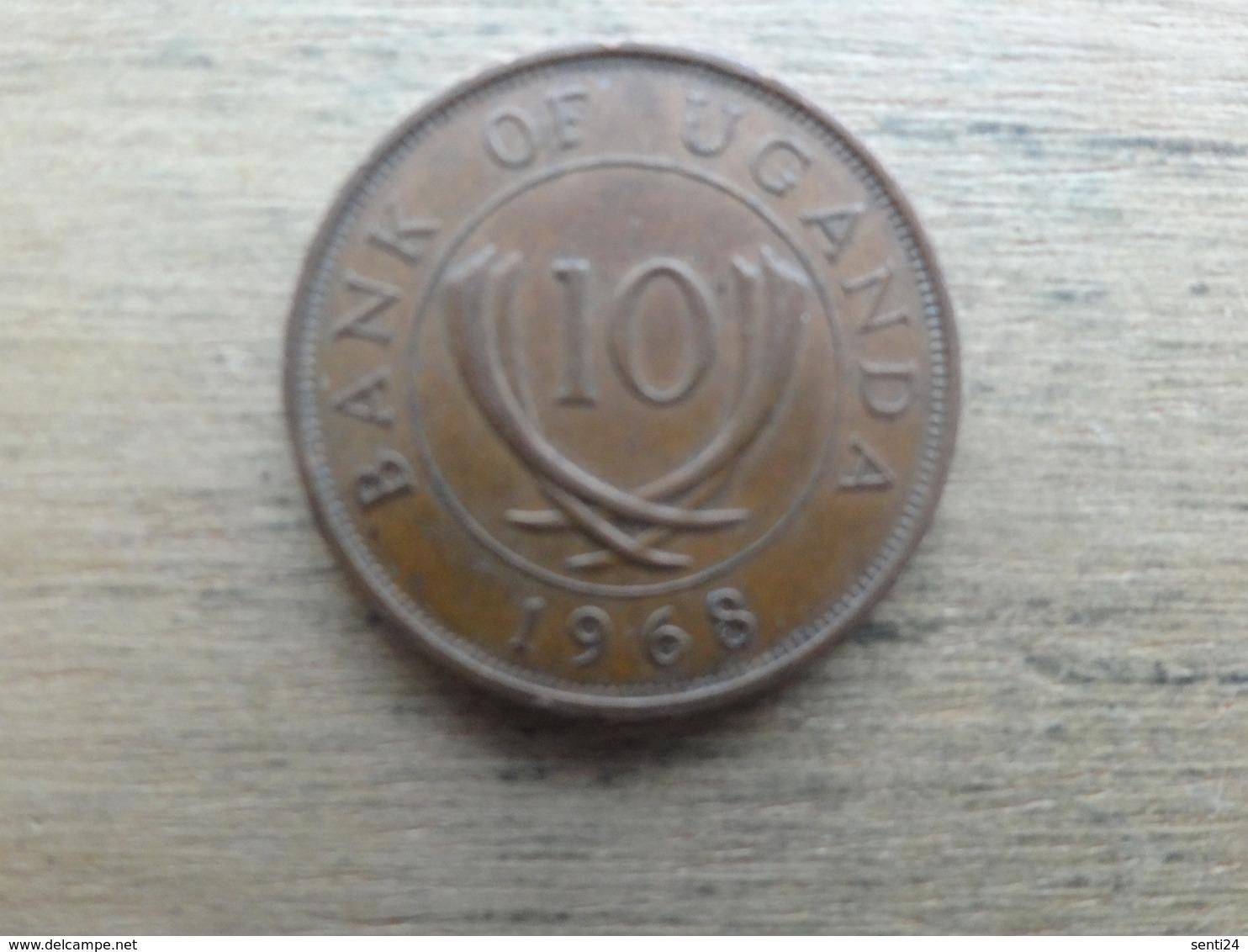 Ouganda  10  Cents  1968  Km 2 - Ouganda