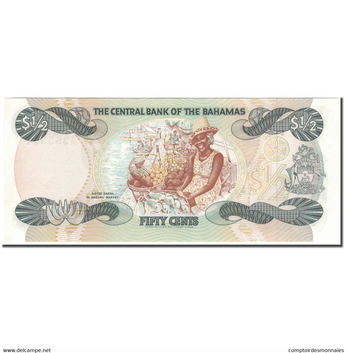 Billet, Bahamas, 1/2 Dollar, 1974, KM:42a, NEUF - Bahamas