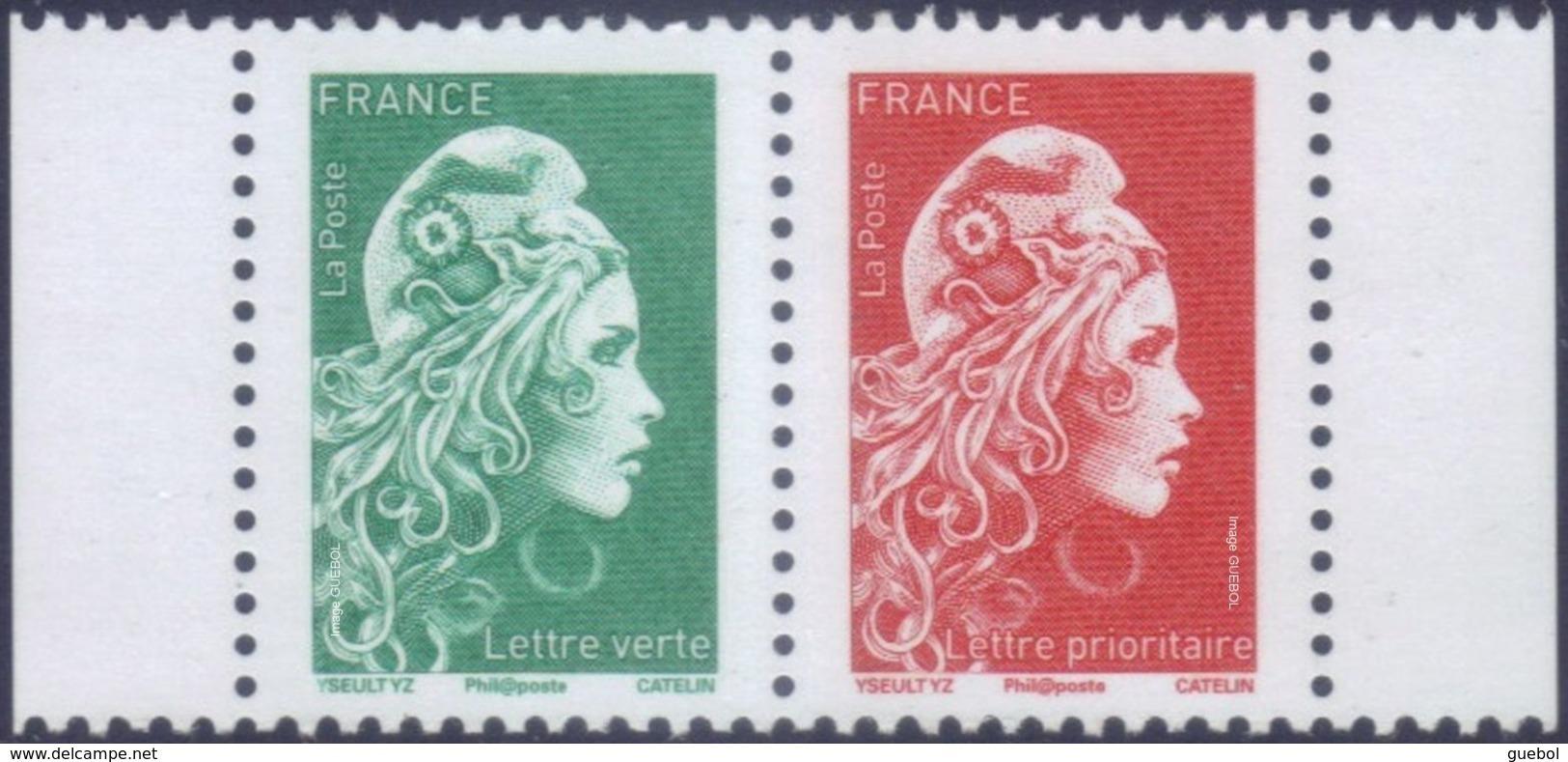 France Marianne L'Engagée N° 5276_P ** Paire Du Carnet - Lettre Verte + Prioritaire - 2018-... Marianne L'Engagée