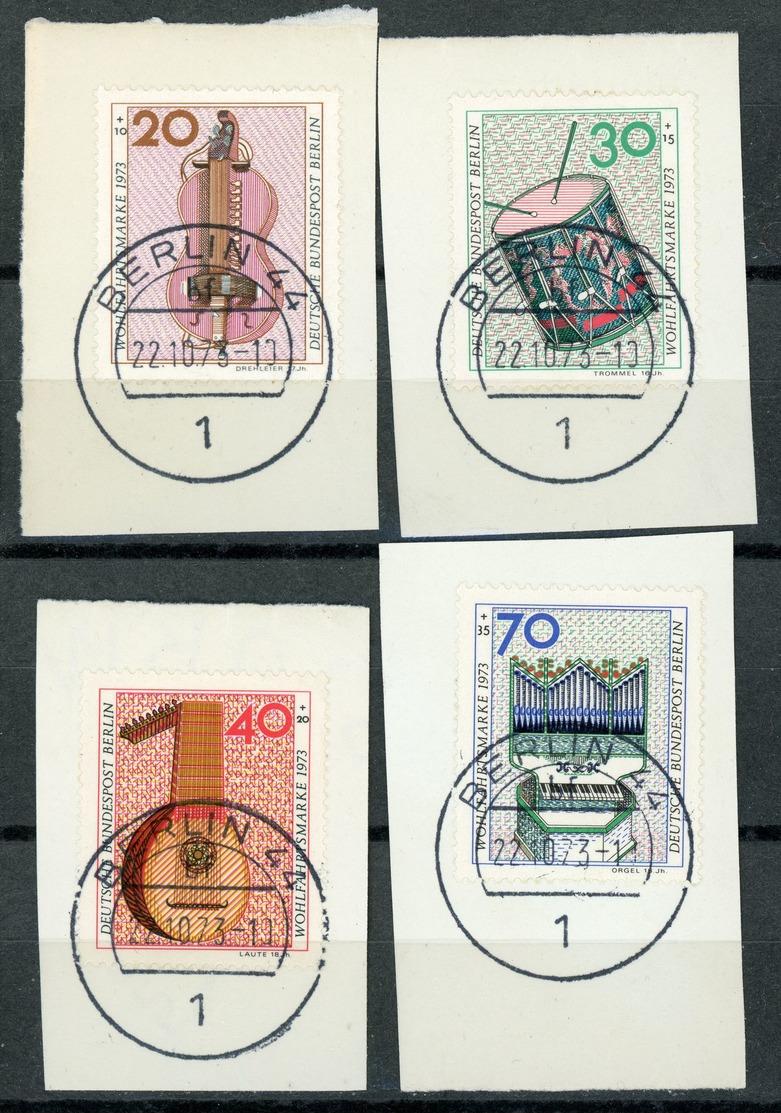"""Nr. 459 - 462 Vollstempel """"BERLIN 44"""" Briefstücke - Gebraucht"""