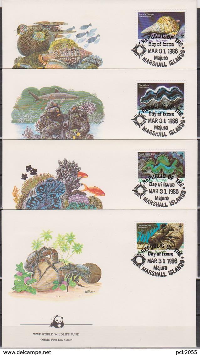 Marshall-Insen 1986 MiNr.73 - 76  Meerestiere  ( D 6314 ) Günstige Versandkosten - Marine Life