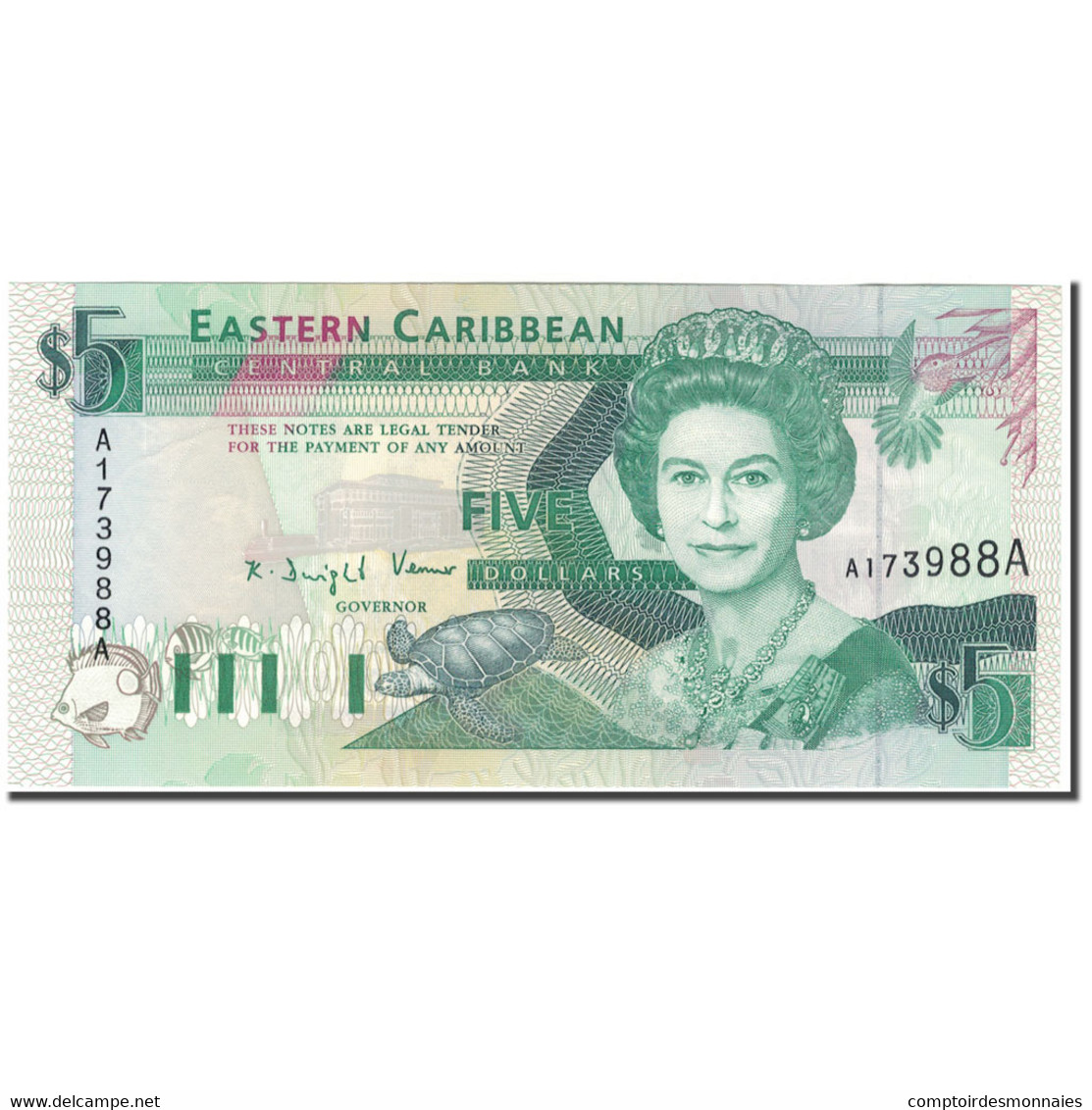 Billet, Etats Des Caraibes Orientales, 5 Dollars, KM:26a, NEUF - Caraïbes Orientales
