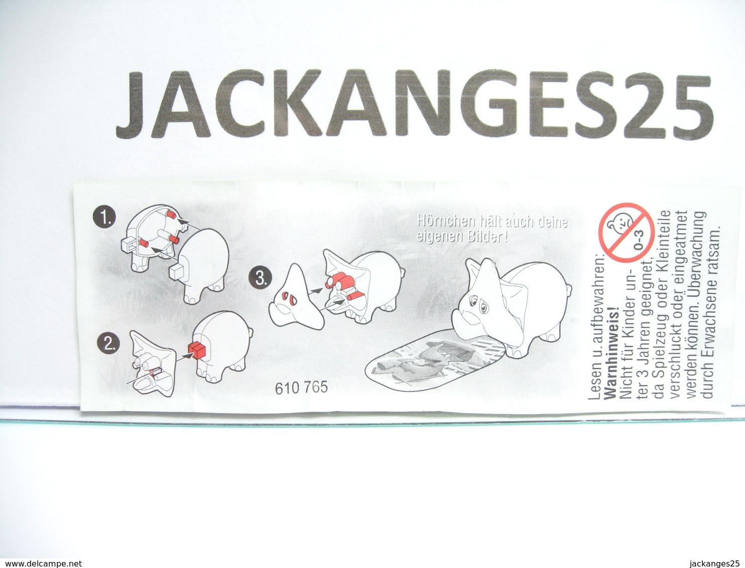 KINDER ALLEMAND 610765 DINOS 2002  + BPZ - Puzzles