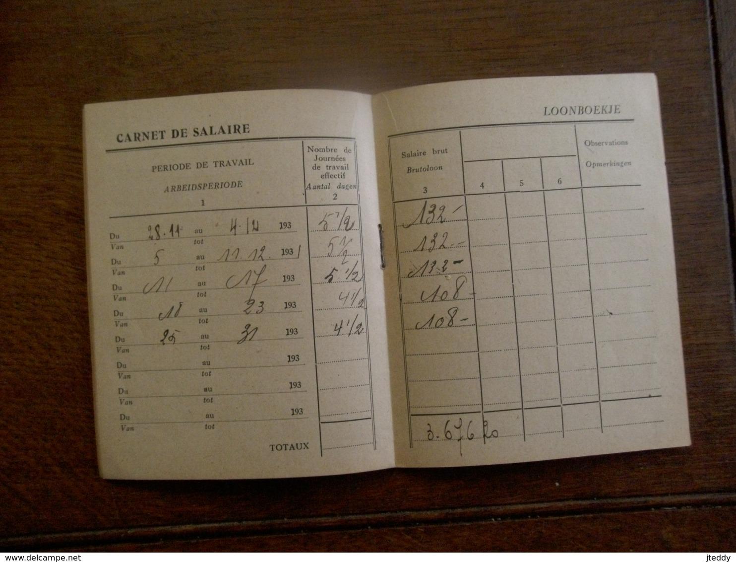 Oud Loonboekje  1931 HUMBEEK                    Impr. JACQUES GODENNE  S.  A. - Belgium