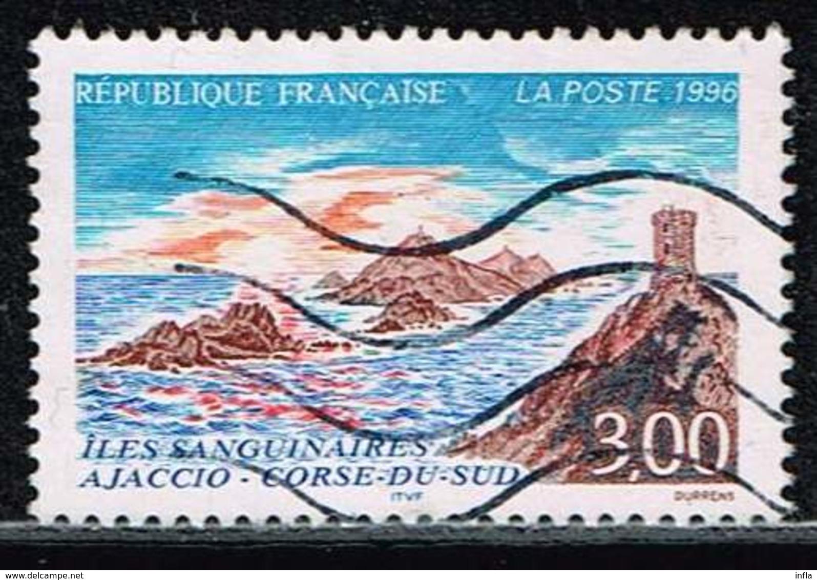 Frankreich 1996 , Michel# 3158 O Bloodthirsty Islands Ajaccio - Southern Corsica - Frankreich