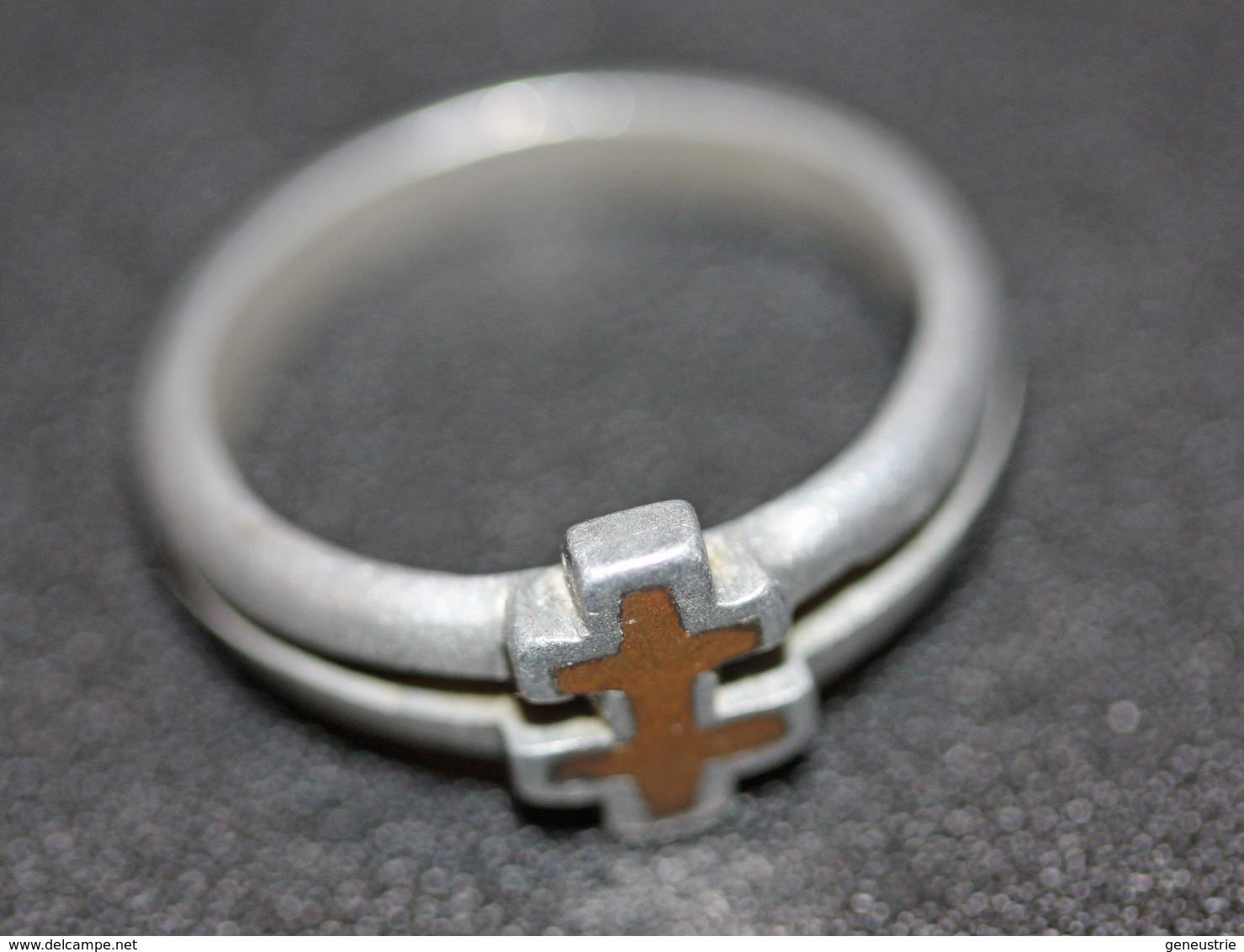 WWI - Bague De Poilu Aluminium Représentant Une Croix De Lorraine - Artisanat De Tranchée / Trench Art - WWI - 1914-18
