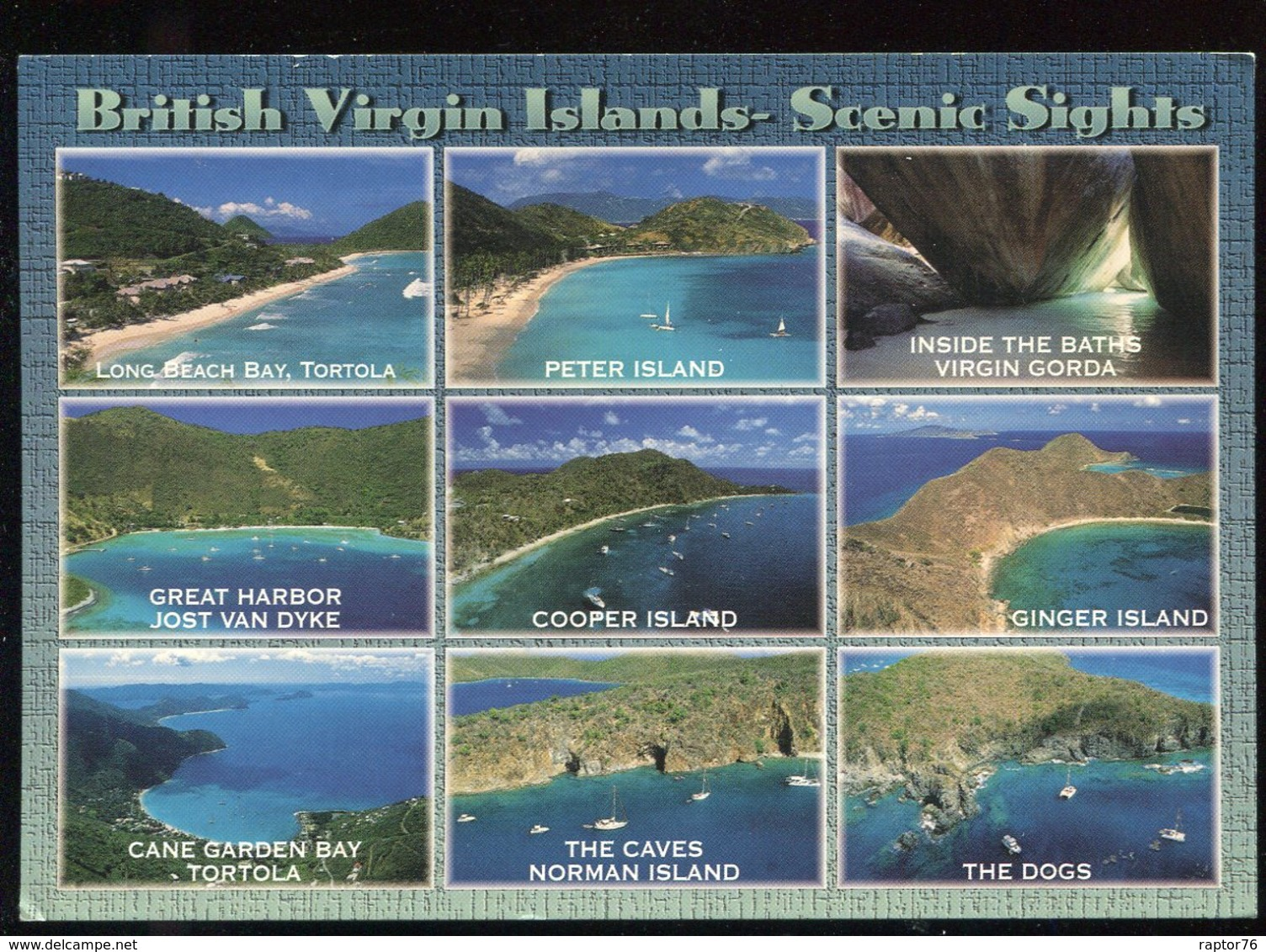 CPM Antilles Iles Vierges British Virgin Islands Scnic Sights Multi Vues - Vierges (Iles), Britann.