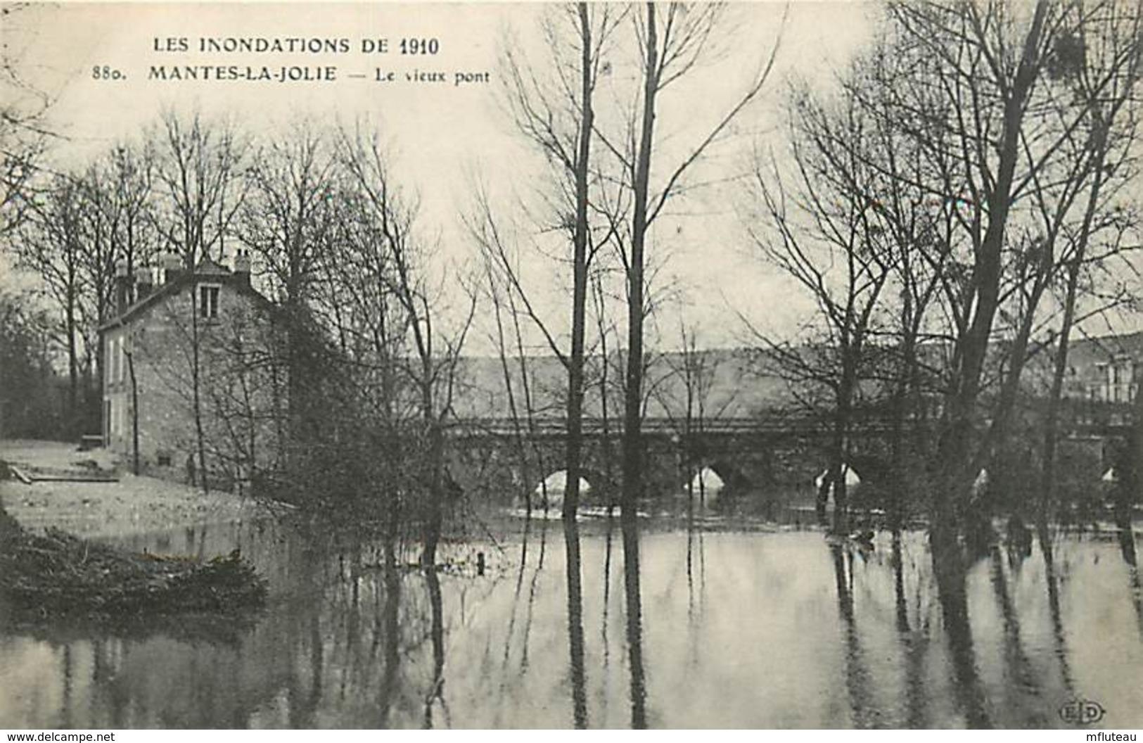 78* MANTES - LIMAY   Crue 1910 -    Pont             MA81.161 - Mantes La Ville