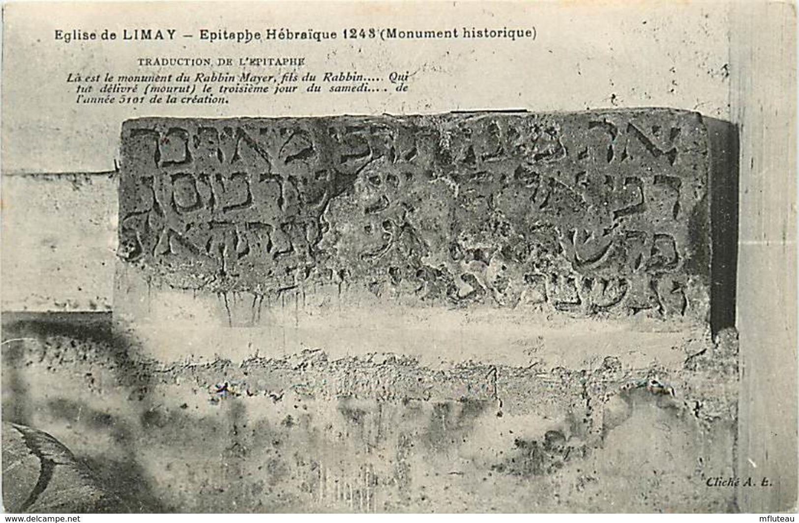 78* LIMAY  Epitaphe Hebraique         MA81.370 - Limay