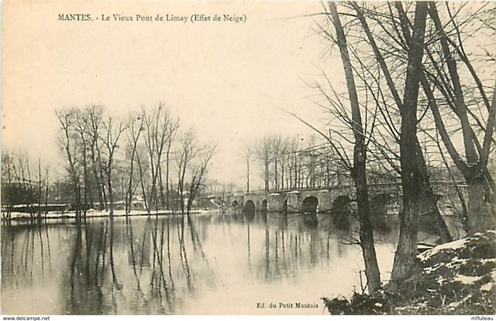 78* LIMAY   Le Vieux Pont    (neige)    MA81.391 - Limay