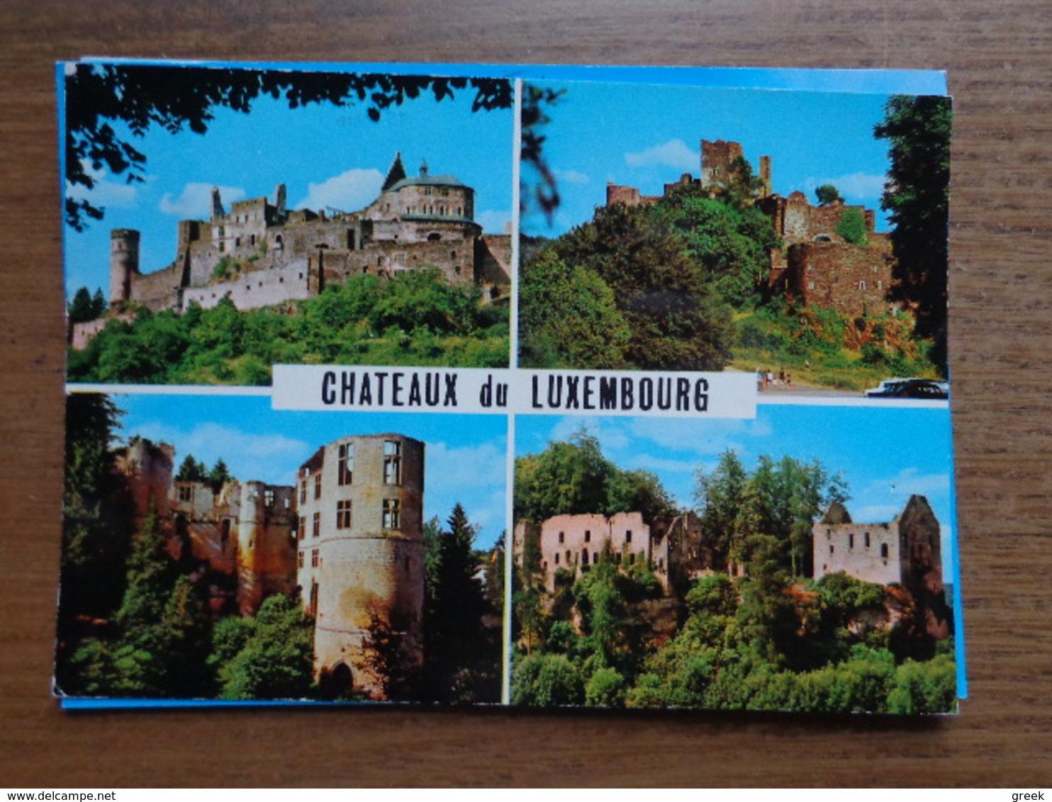 Kasteel, Castle, Chateau / Chateaux Du Luxembourg --> écrit - Châteaux