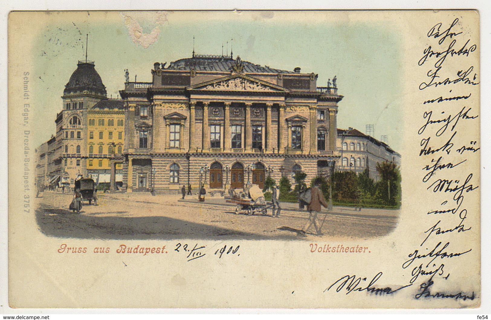 ° HONGRIE ° GRUSS  AUS BUDAPEST ° Carte Postée En 1900 ° - Hungary