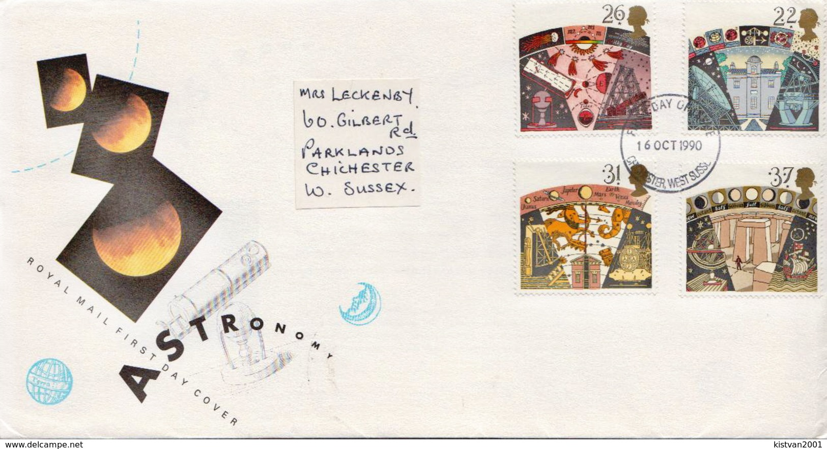 Great Britain Set On Used FDC - Astronomy