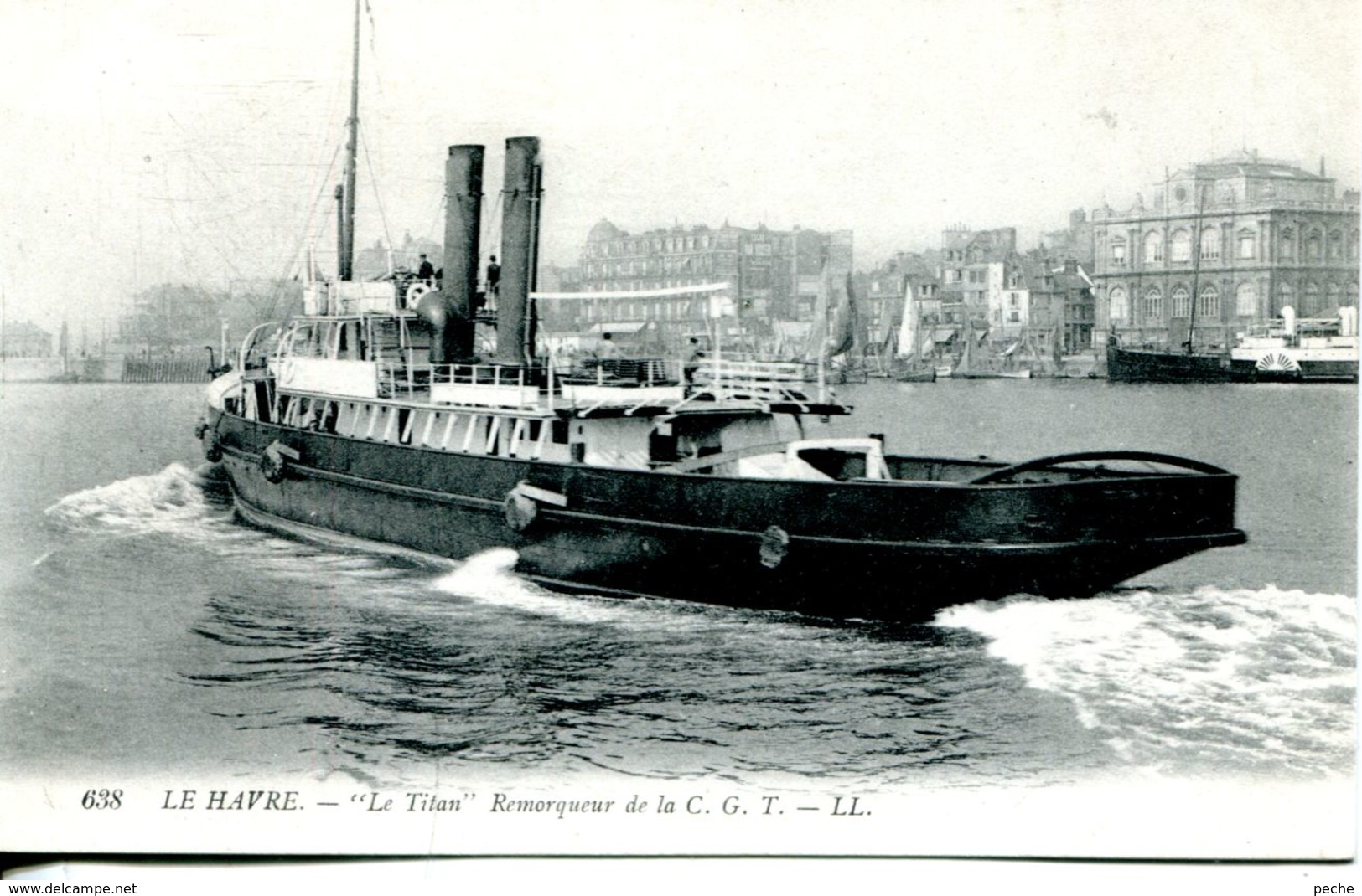 "N°66883 -cpa Le Havre -""le Titan"" Remorqueur De La C.G.T. - Remorqueurs"