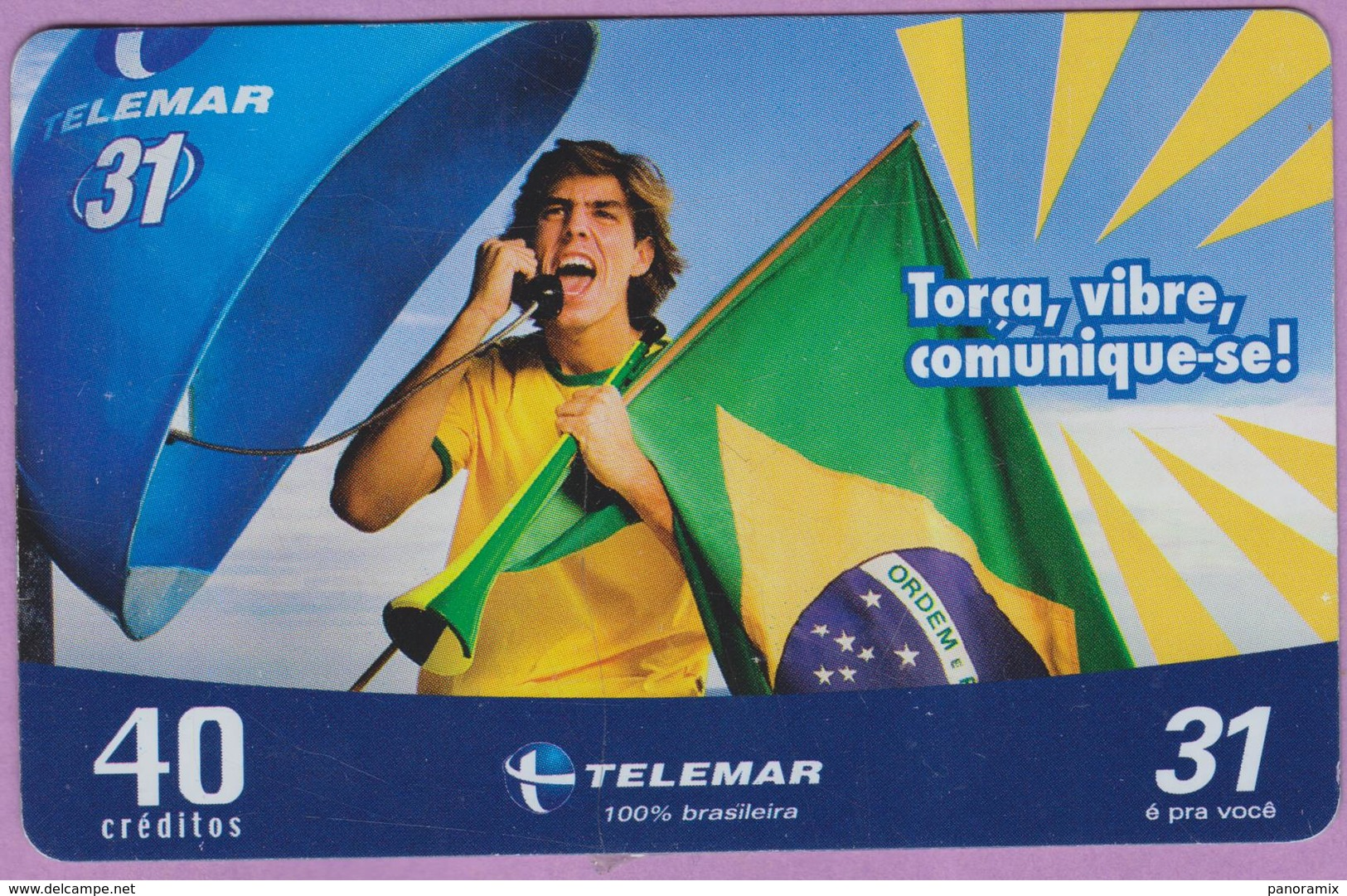 Télécarte °° Prépayée - Brésil - Anatel 40 - RV - Brésil