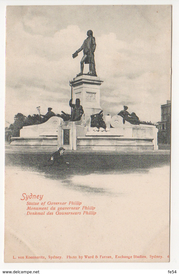 ° AUSTRALIE °  SYDNEY ° STATUE OF GOVERNOR PHILLIP ° - Sydney