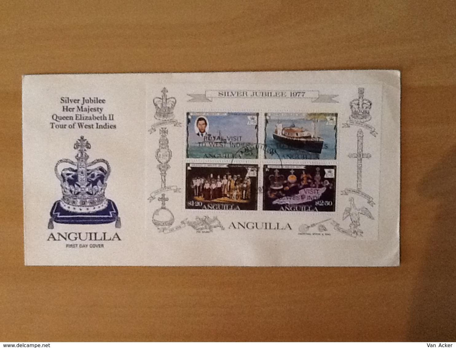 Anguila FDC Silver Jubilee 1977 - Anguilla (1968-...)
