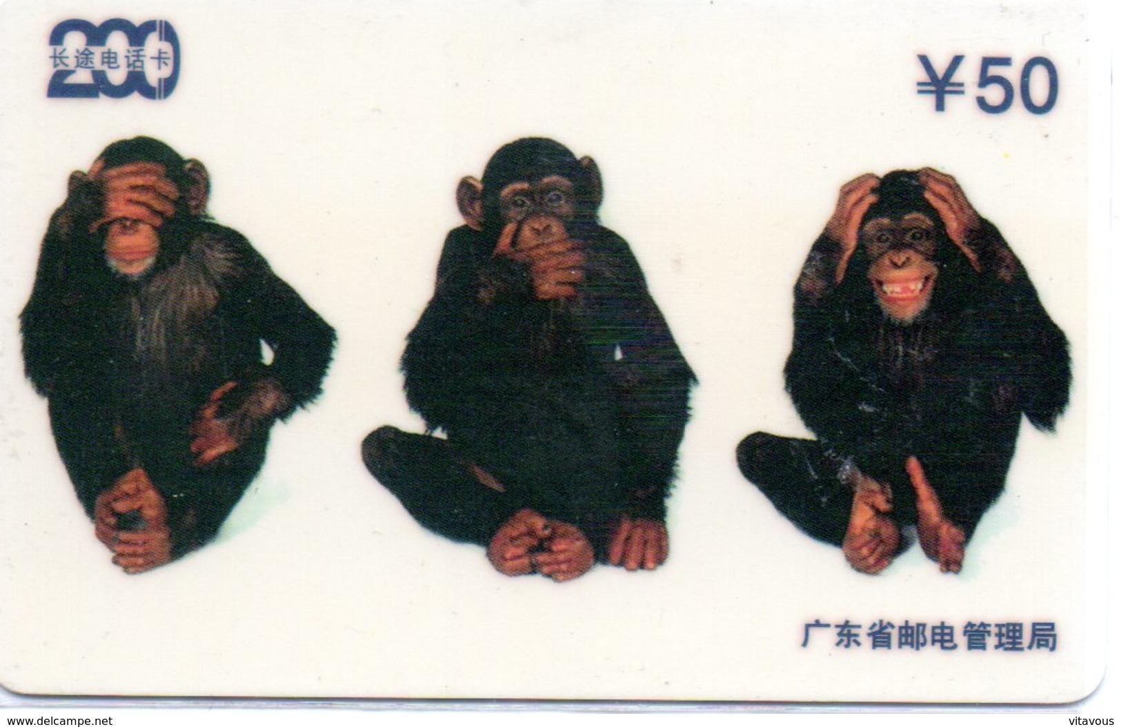 Singe Monkey Télécarte Magnétique Chine Phonecard (D 491) - Chine