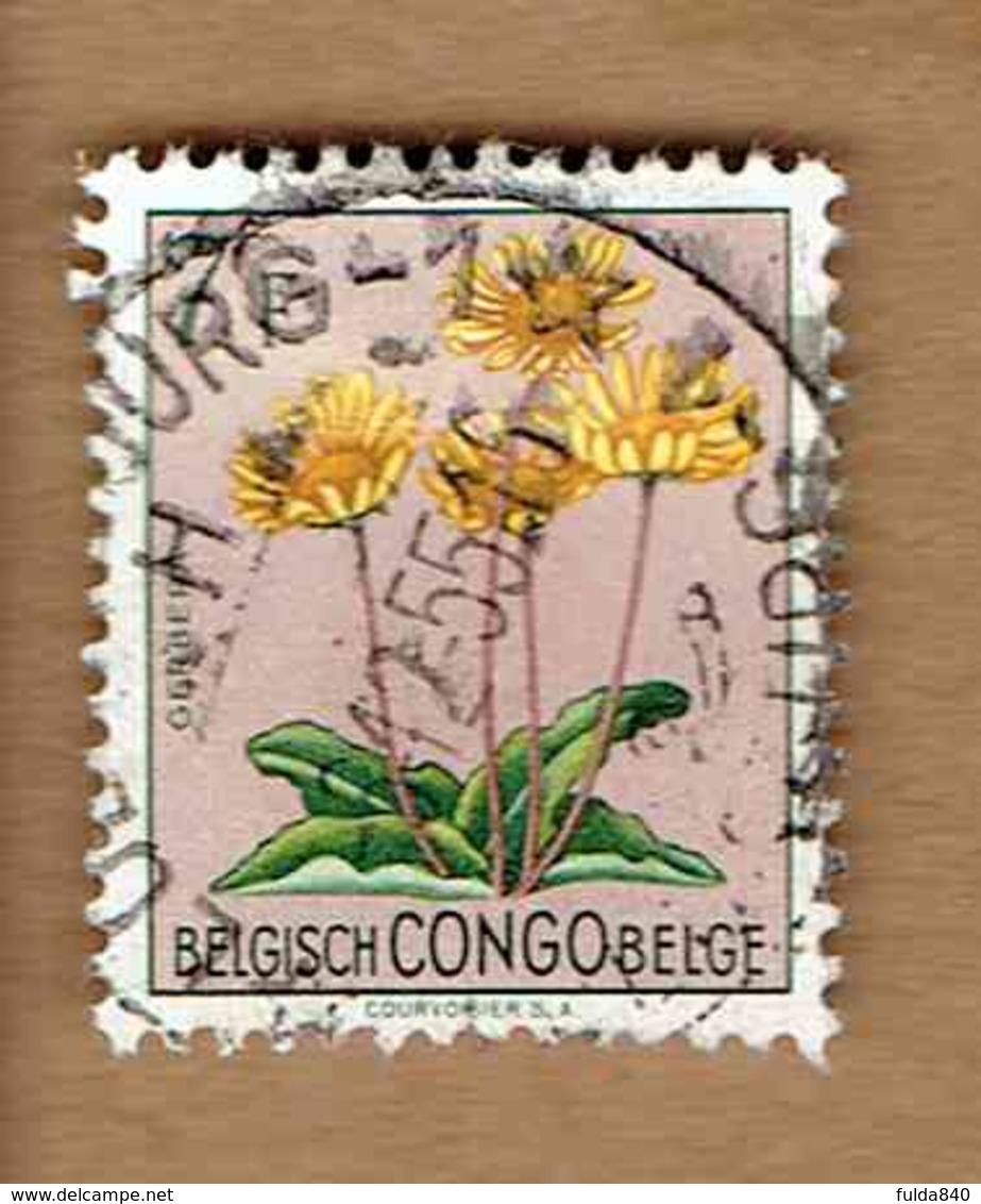 Congo Belge.(COB-OBP)  1952 - N°318    *FLEURS DU CONGO*   7F   Oblitéré - Congo Belge