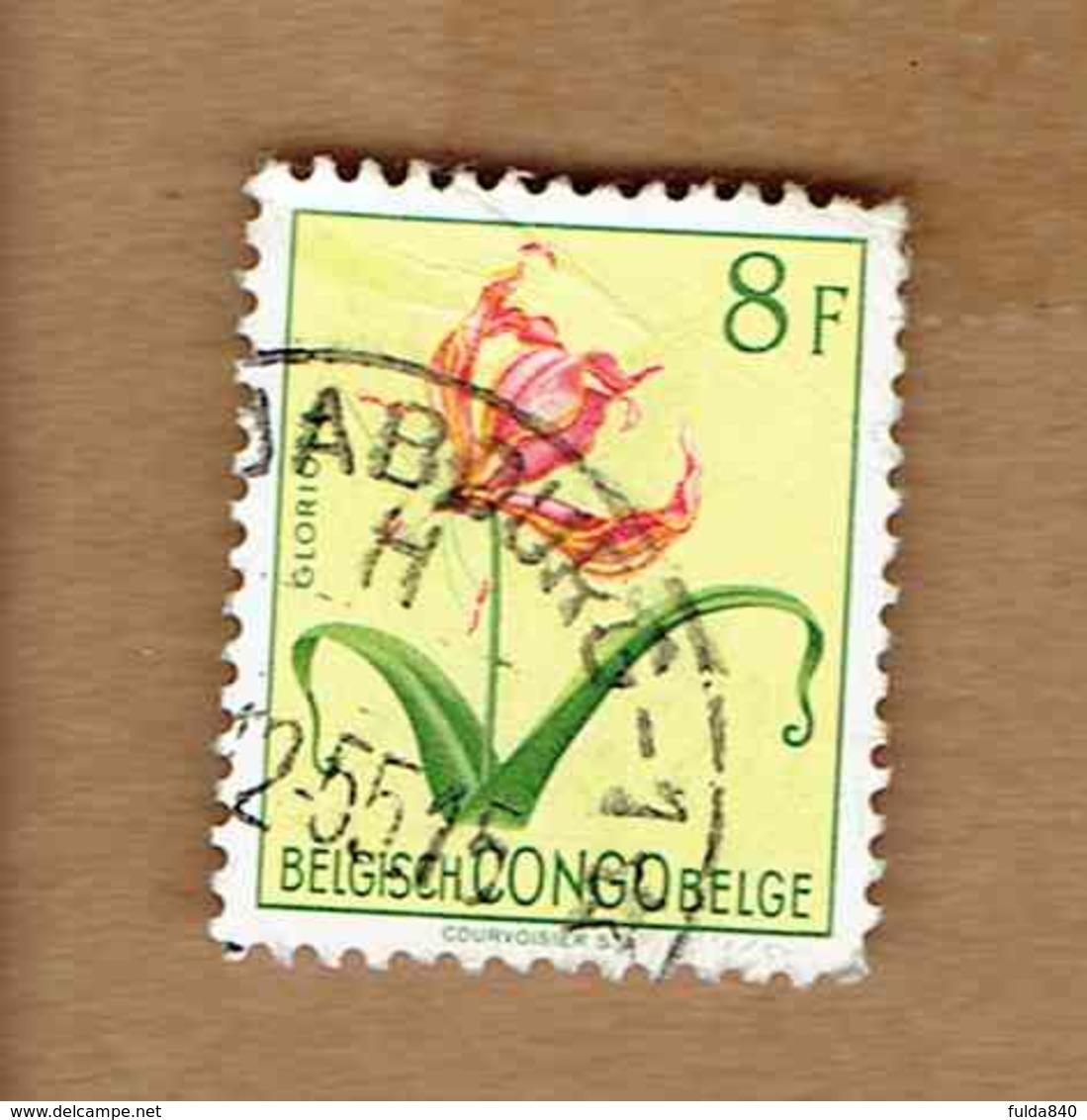 Congo Belge.(COB-OBP)  1952 - N°319    *FLEURS DU CONGO*   8F   Oblitéré - Congo Belge
