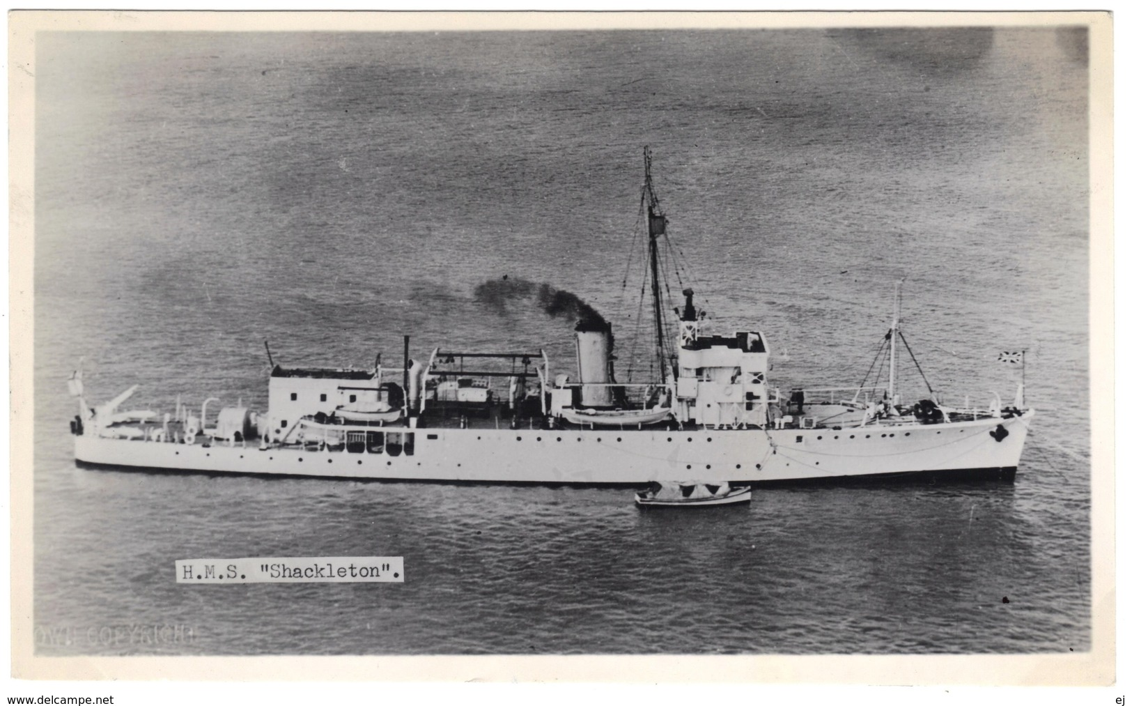 H M S Shackleton (ex Sharpshooter) - Minesweeper Converted To Survey Ship - Real Photo - R A Fisk - 1950's - Warships