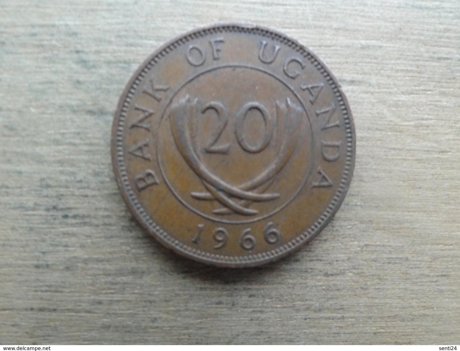 Ouganda  20  Cents  1966  Km 3 - Ouganda