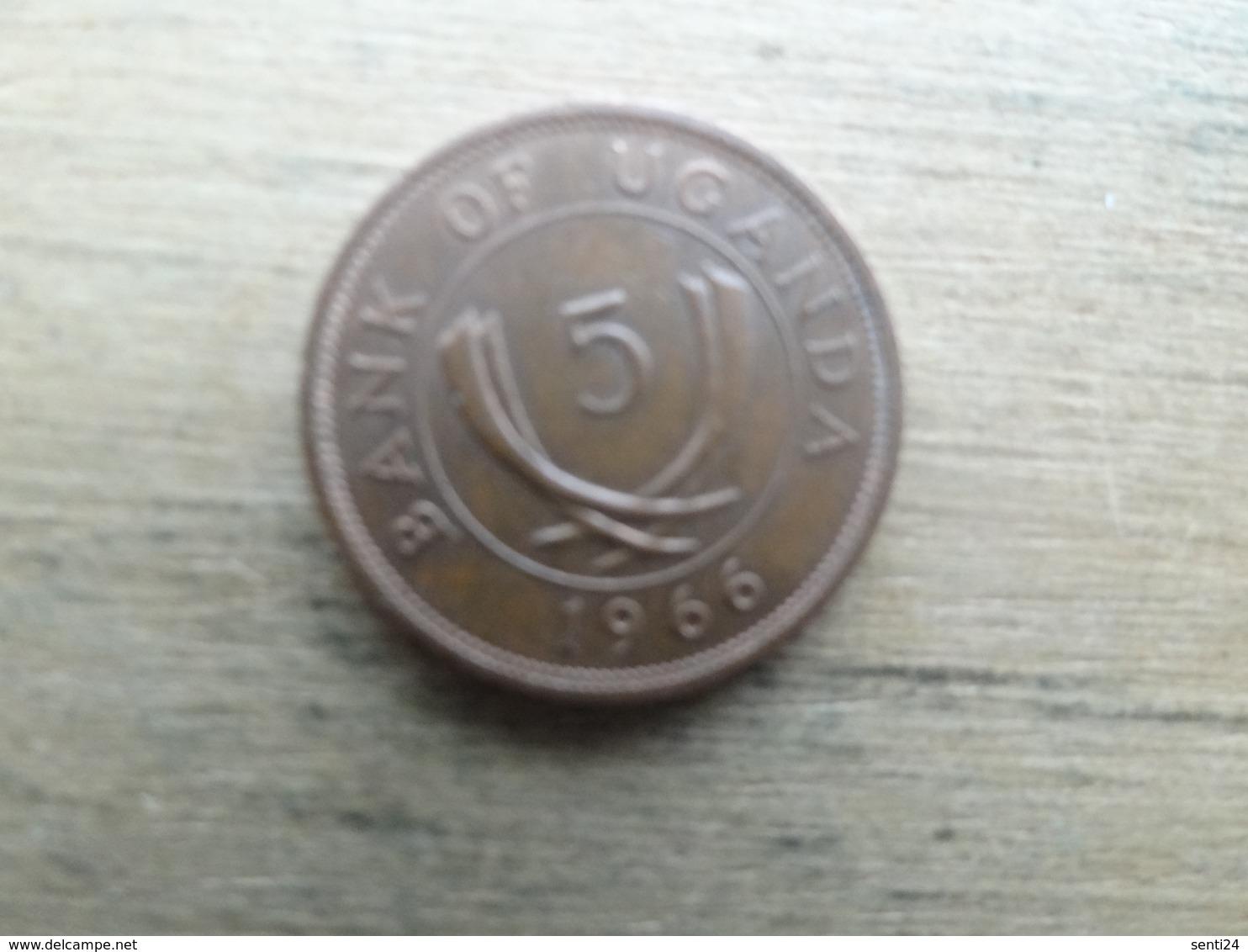 Ouganda  5  Cents  1966  Km 1 - Ouganda