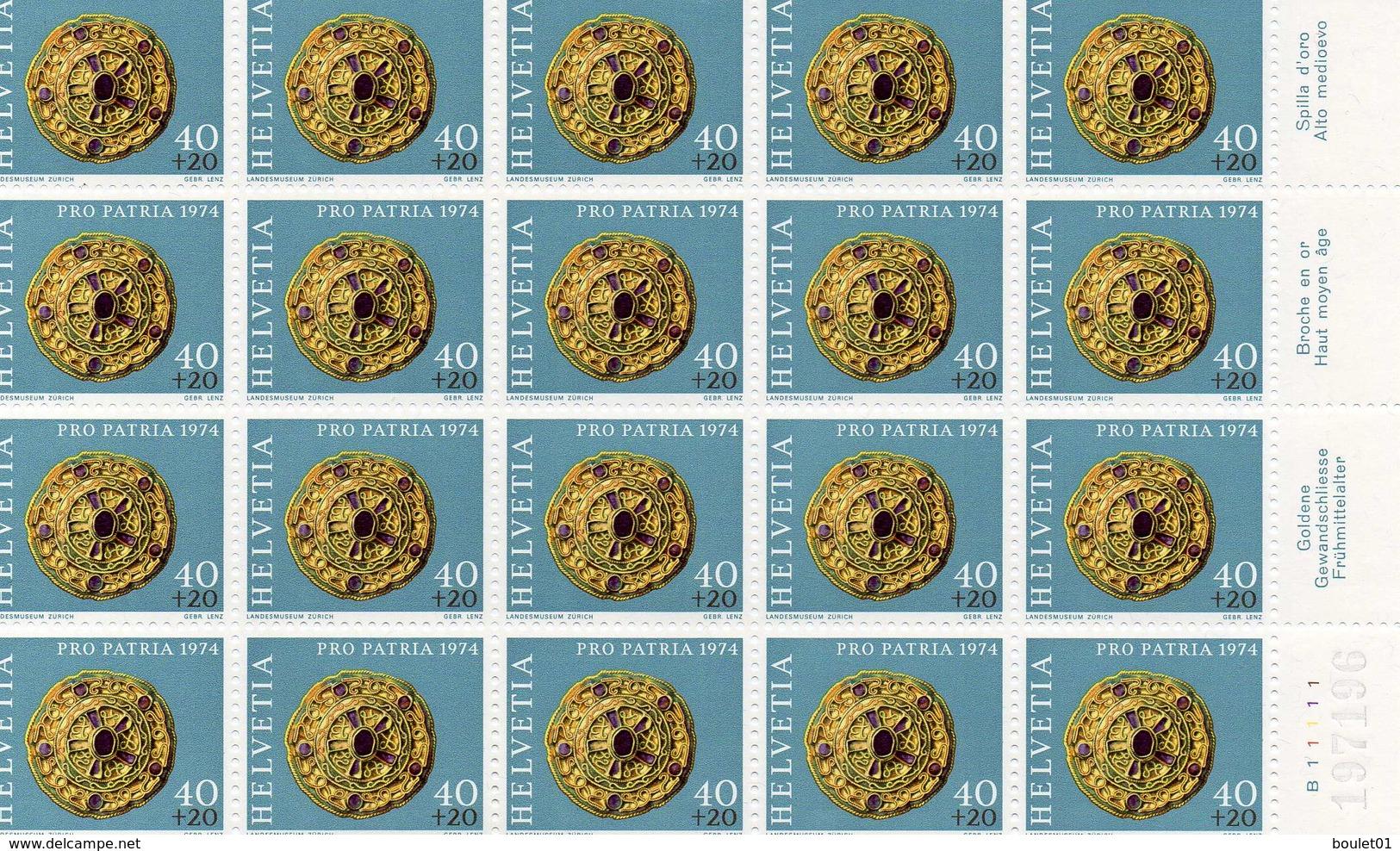 N° 961, 962, 963, 964 Neufs En Feuille De 20 Pour Une Cote De 75 Euros Ou 29 Francs Suisse Pour Affranchisement - Lotti/Collezioni