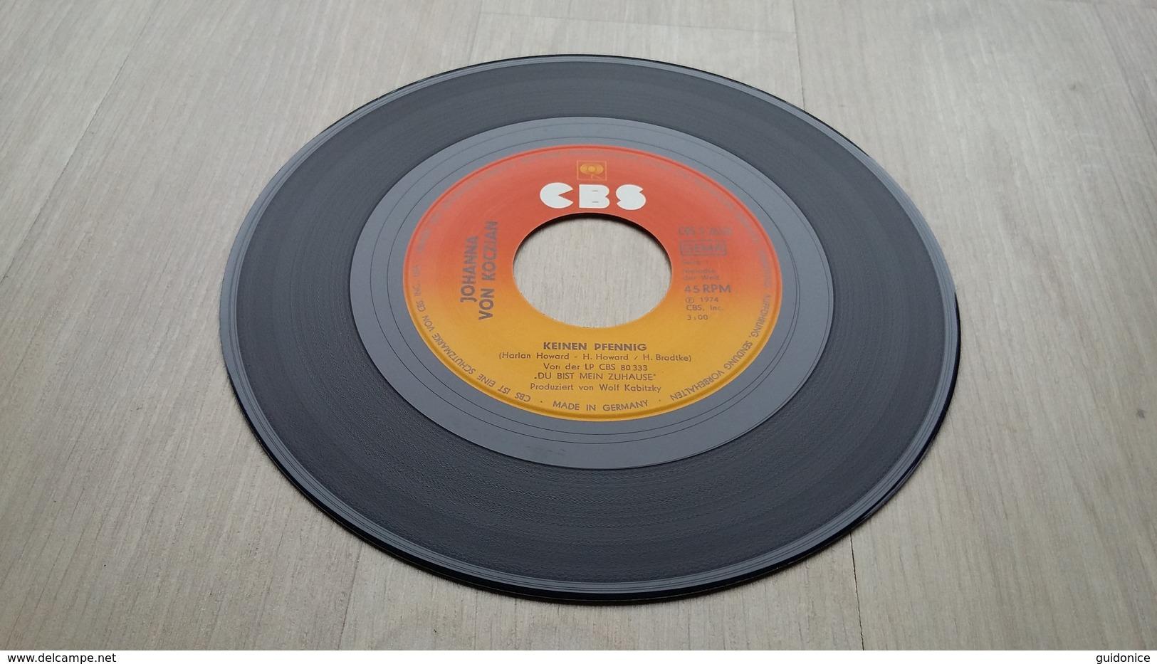 Johanna Von Koczian - Keinen Pfennig - Vinyl-Single Von 1977 - Vinyl-Schallplatten