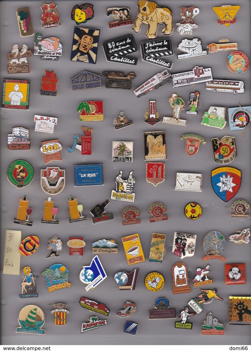 Lot De 80 Pin's Des PO (66) - Pin's