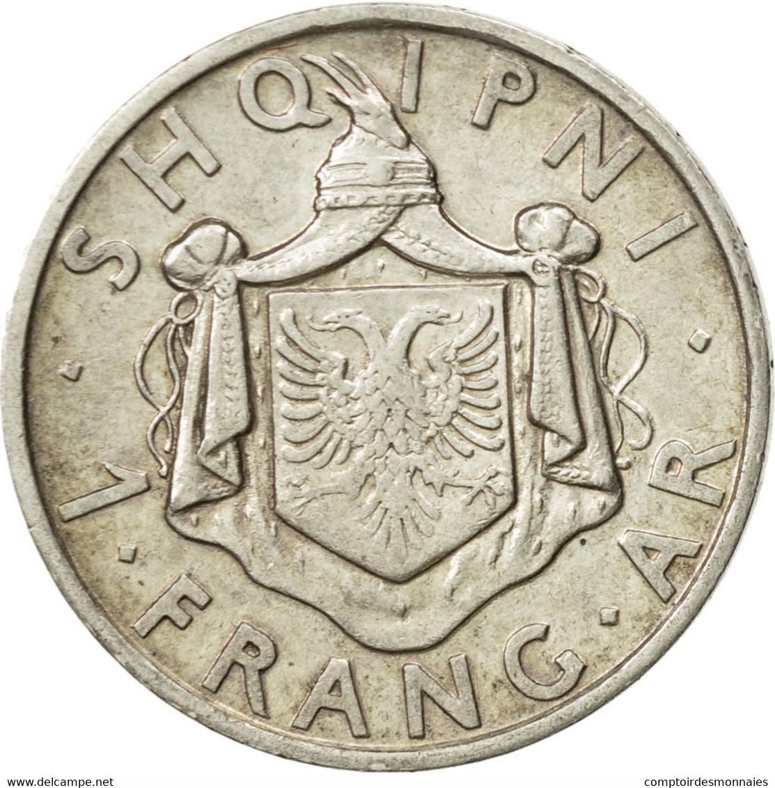 Monnaie, Albania, Zog I, Frang Ar, 1935, Rome, TTB+, Argent, KM:16 - Albanie