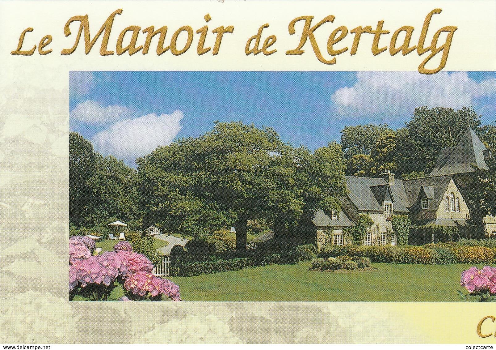 KERTALG  Le MANOIR (carte Publicitaire Chembres Au Versot) - France
