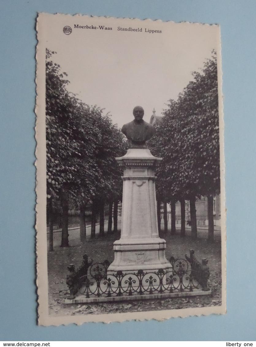 Standbeeld LIPPENS ( Albert ) 19?? ( Voir / Zie Photo ) ! - Moerbeke-Waas