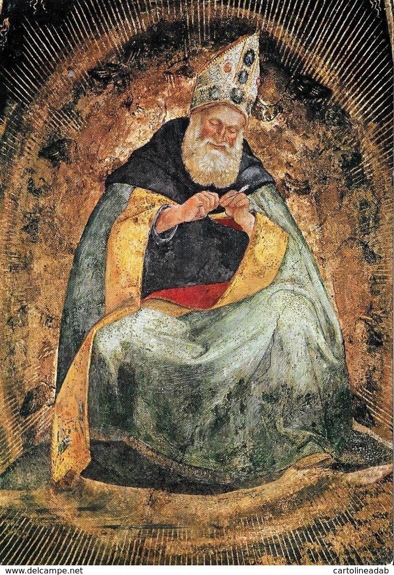 [MD2382] CPM - LORETO - L. SIGNORELLI - SAGRESTIA DI S. GIOVANNI - S. AGOSTINO DOTTORE DELLA CHIESA - Non Viaggiata - Cristianesimo
