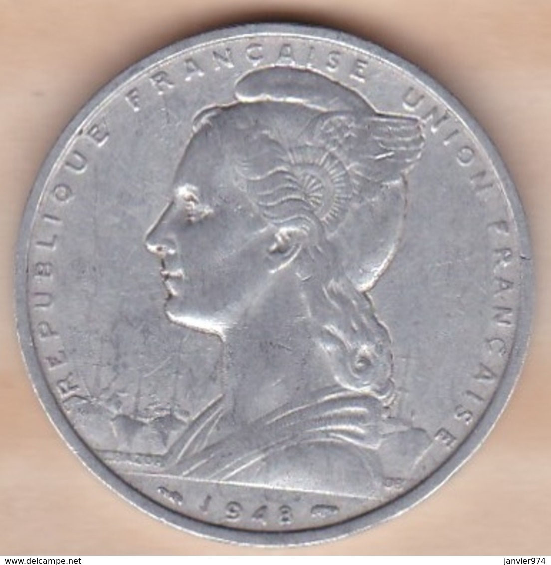 Cote Française Des Somalis 5 Francs 1948 , Aluminium .KM# 6 - Djibouti