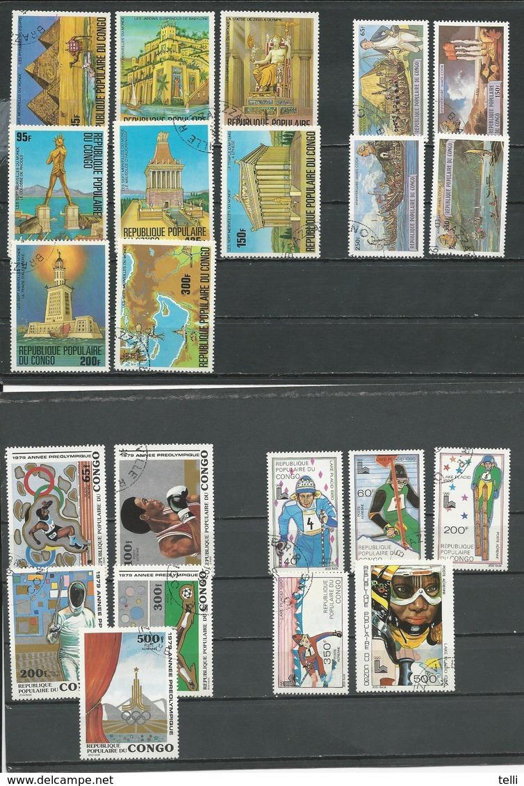 CONGO Scott 460-7, 489-2, C256-0, C261-5 Yvert 505-12, 534-7, PA254-8, PA259-3 (22) O Cote 12,00 $ 1978-9 - Congo - Brazzaville
