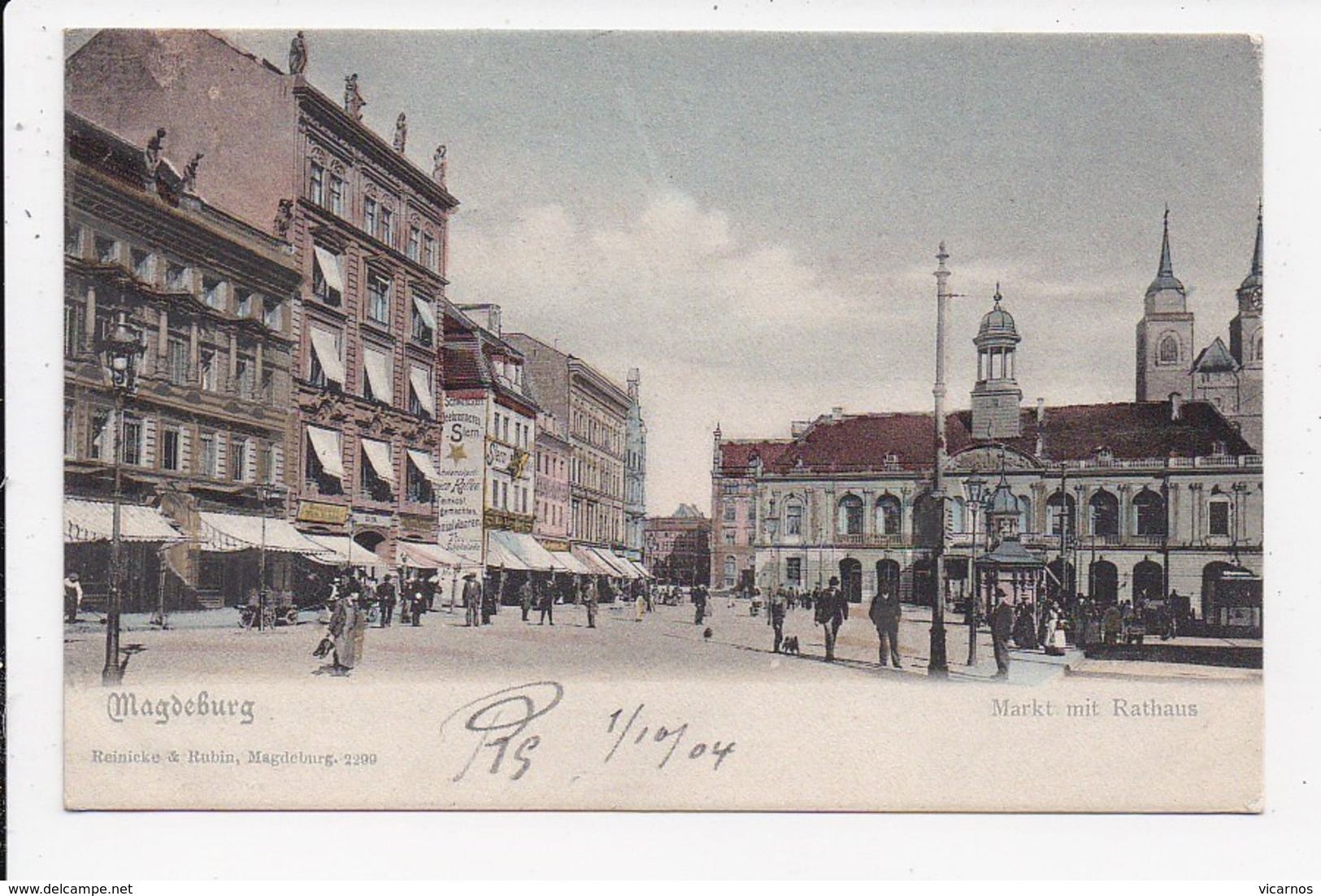 CPA ALLEMAGNE MAGDEBURG Markt Mit Rathaus - Magdeburg