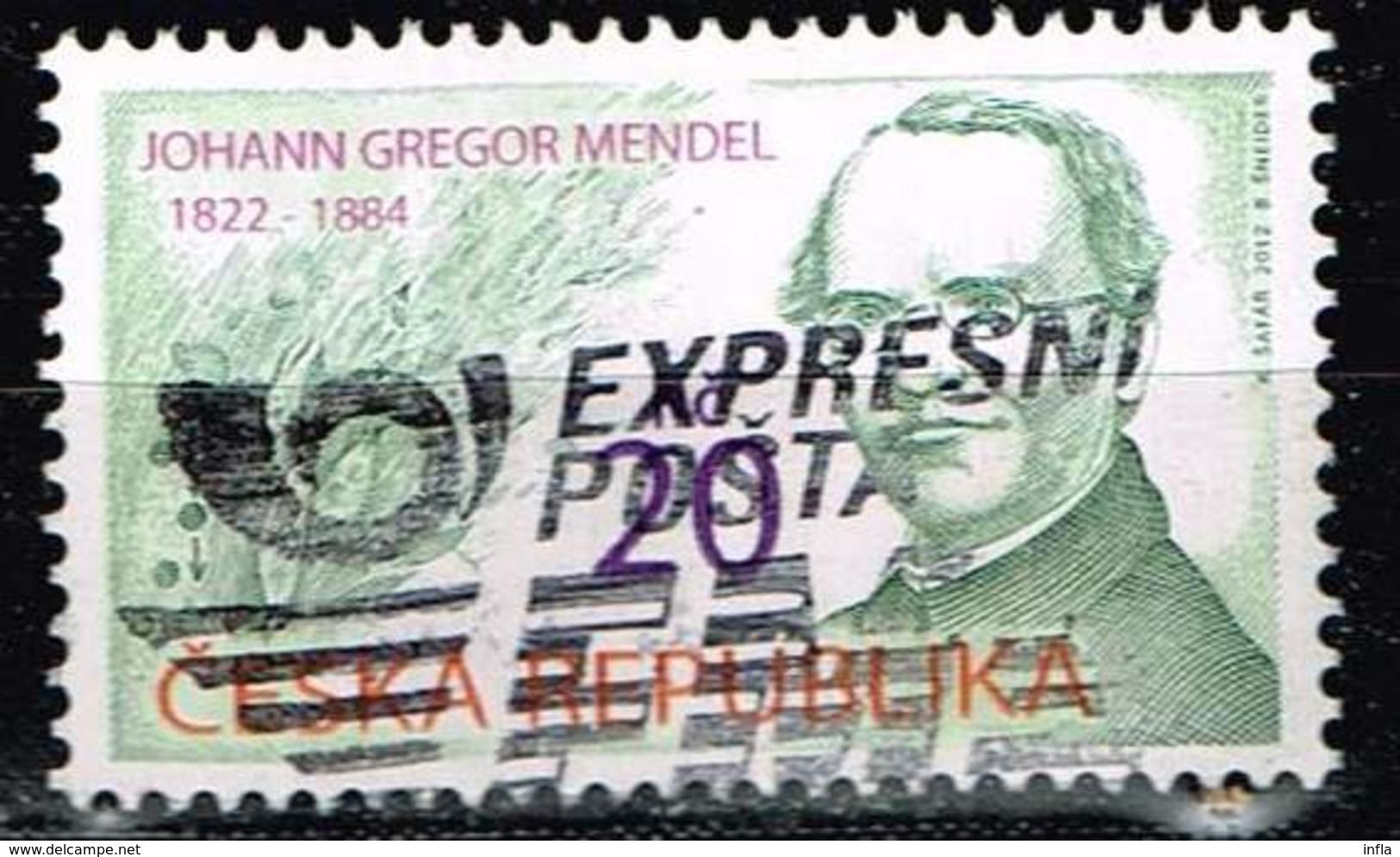 Tschechien 2012, Michel# 715 O Johann Gregor Mendel (1822 - 1884) - Czech Republic