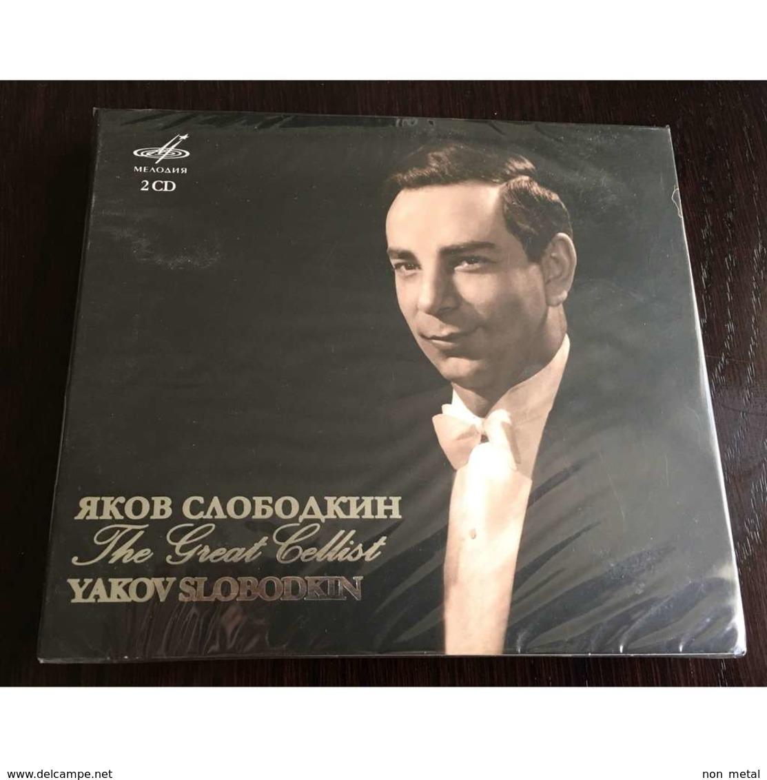 Yakov SLOBODKIN, Cello: Great Cellist Arensky Arutunian Dimitrescu Aivazian Gliere Sibelius Davidoff 2CD, Melodia, New - Klassik