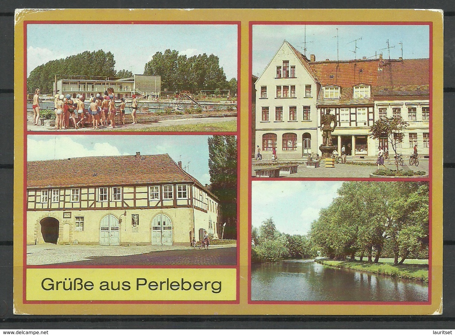 Germany DDR Post Card PERLEBERG Sent 1990 With Stamp - Perleberg