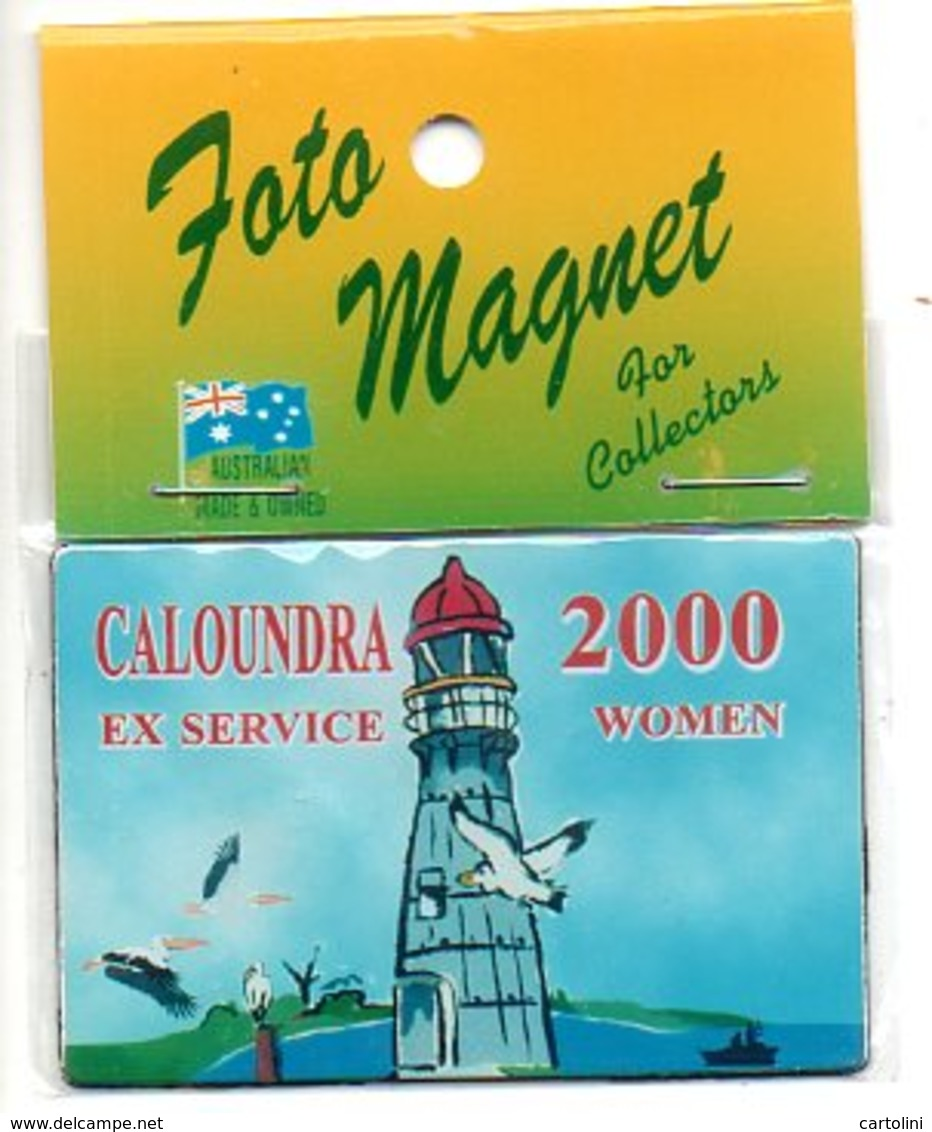 Ex Service Woman  Magnet Magneet  Magnète Vuurtoren  2000 Caloundra Australia Militair Militaire Military Militar - Magnets